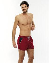 Bañador para hombre corto de secado rápido rojo, , LOVABLE