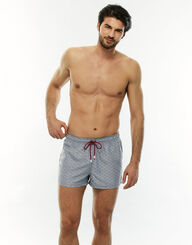 Bañador corto hombre gris estampado, , LOVABLE