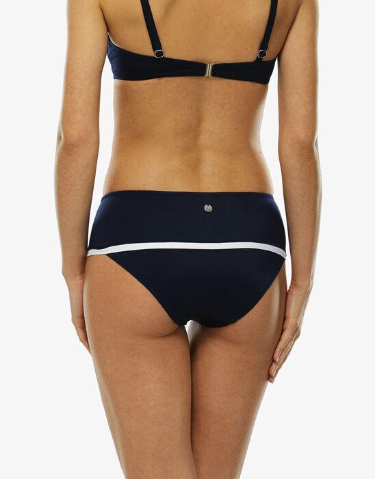 Braguita bikini azul marino y blanco de microfibra, , LOVABLE