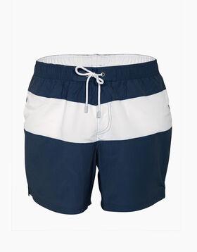 Bañador azul denim y blanco de secado rápido, , LOVABLE
