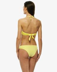 Braguita bikini reversible blanca y amarilla estampada de microfibra, , LOVABLE