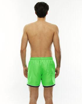Bañador hombre verde fluorescente con bordes blancos y verdes oscuros, , LOVABLE