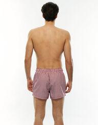 Bañador hombre corto con estampado de rayas rojo y blanco, , LOVABLE