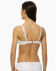 Sujetador bikini blanco crochet con aros, , LOVABLE