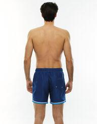 Bañador hombre azul con bordes blancos y turquesa, , LOVABLE