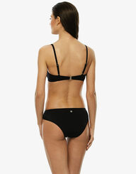Sujetador bikini con arosnegro  de microfibra y red, , LOVABLE