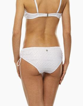 Braguita bikini alta de crochet blanca con hilo plateado, , LOVABLE