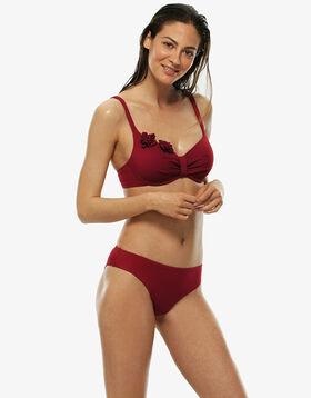 Braguita bikini roja de microfibra, , LOVABLE