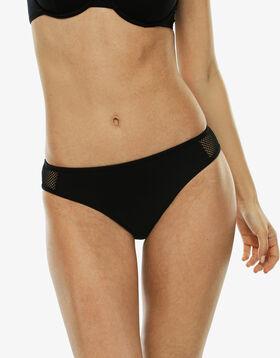 Braguita bikini negra de microfibra y red, , LOVABLE