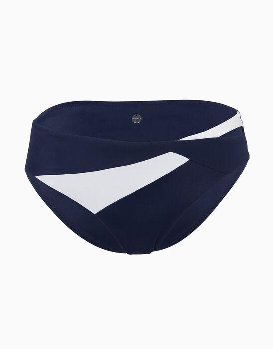 Braguita bikini azul marina y blanca de microfibra, , LOVABLE