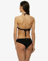 Sujetador bikini triangular negro sin aros de microfibra y red , , LOVABLE