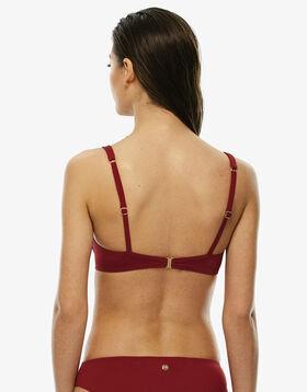 Sujetador bikini con aros rojo con rosas de microfibra, , LOVABLE