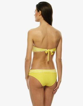 Braguita bikini reversible amarilla y blanca estampada, , LOVABLE