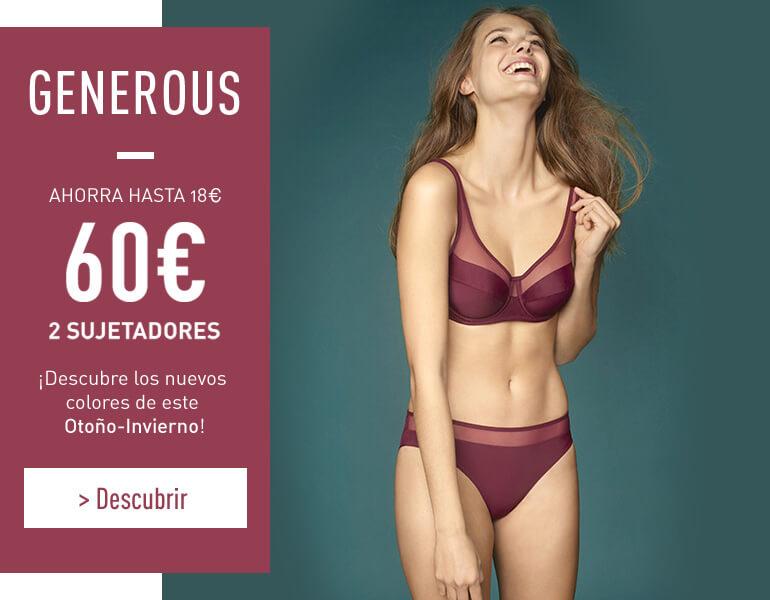 Generous - Ahorra hasta 18€ - 60€ 2 sujetadores
